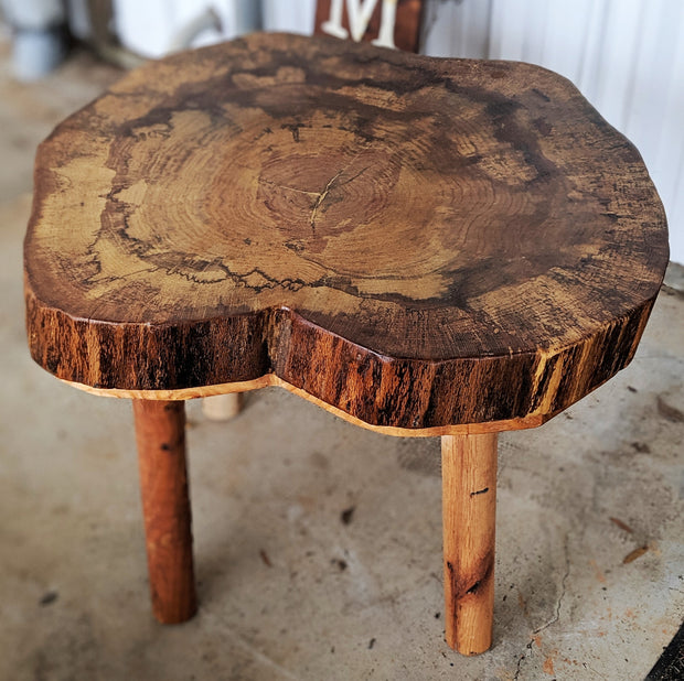 Red Oak Stool/Side Table - Evergreen Patio