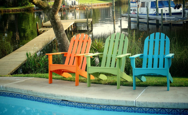 Casual Poly Adirondack Chair - Evergreen Patio