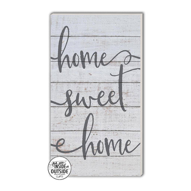 "11"" x 20"" Home Sweet Home Whitewash Indoor/Outdoor Sign"