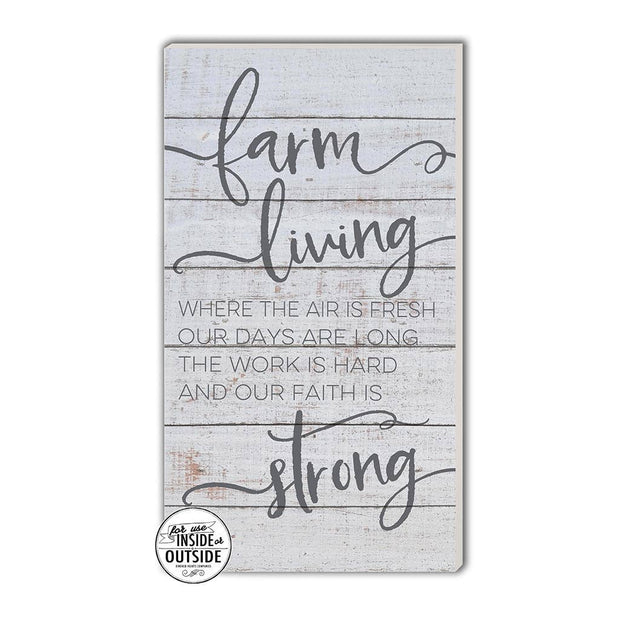 "11"" x 20"" Farm Living Whitewash Indoor/Outdoor Sign"