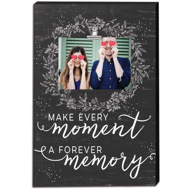 "12"" x 18"" Make Every Moment Canvas Clip Picture Frame"