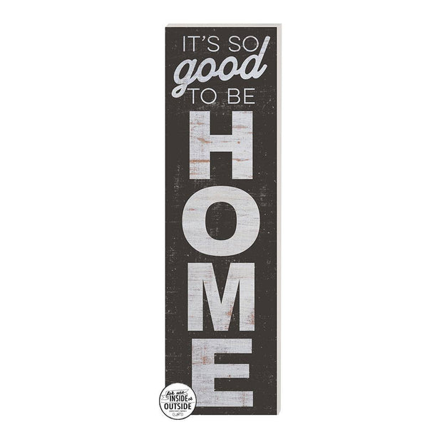 "35"" x 10"" So Good to Be Home Black Indoor/Outdoor Sign"