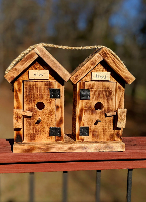 His & Hers Birdhouse