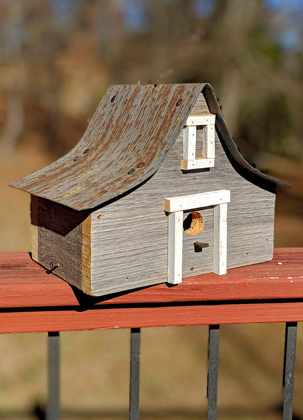 Antique A-Frame Birdhouse