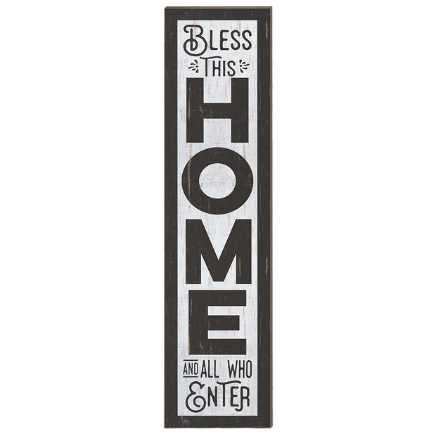 12 x 48 Bless This Home Porch Leaner Sign