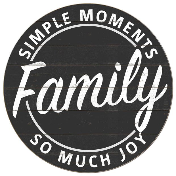 20x20 Simple Moments Family Sign