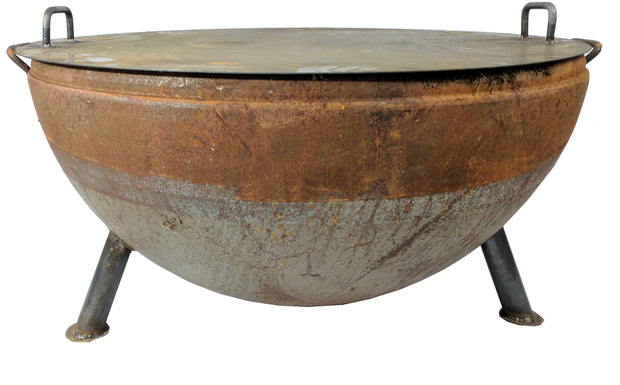 "37"" Hemisphere Heavy Duty Fire Pit - Evergreen Patio"