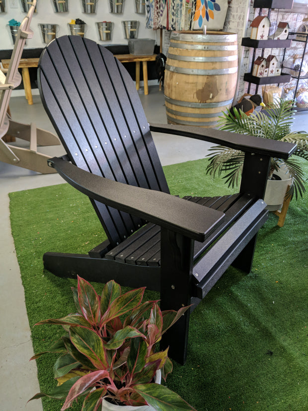 Deluxe Tall and Wide Poly Adirondack Chair - Evergreen Patio