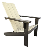 Two Tone Modern Poly Adirondack Chair