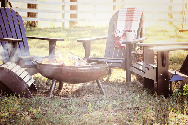 "30"" Heavy Duty Fire Pit - Evergreen Patio"