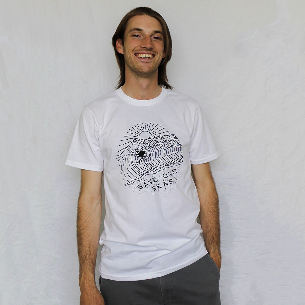 Male model wearing Save our Seas Organic Cotton T-shirt