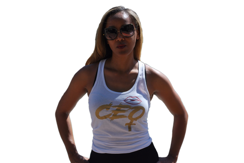 The Female CEO Tank White (Final Sale)