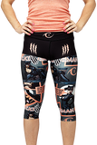 Catwoman capri peach/grey