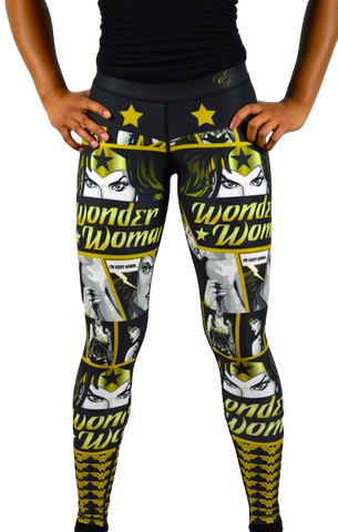 Wonder Woman Leggings Black/Gold