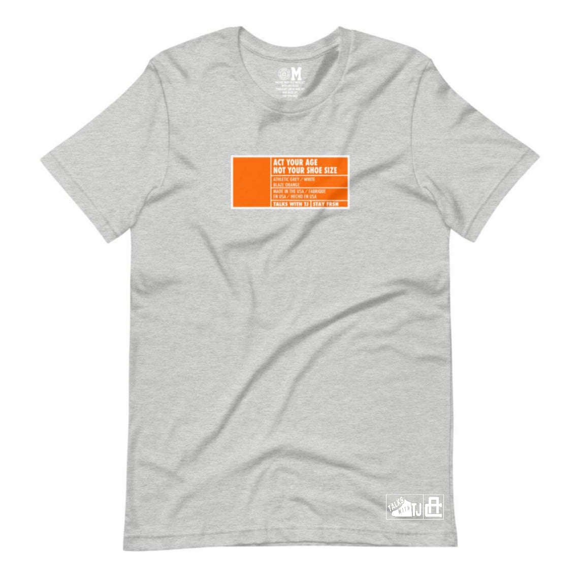 Act Your Age Box Label Tee - Grey - Pre-Order