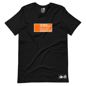 Act Your Age Box Label Tee - Black - Pre-Order