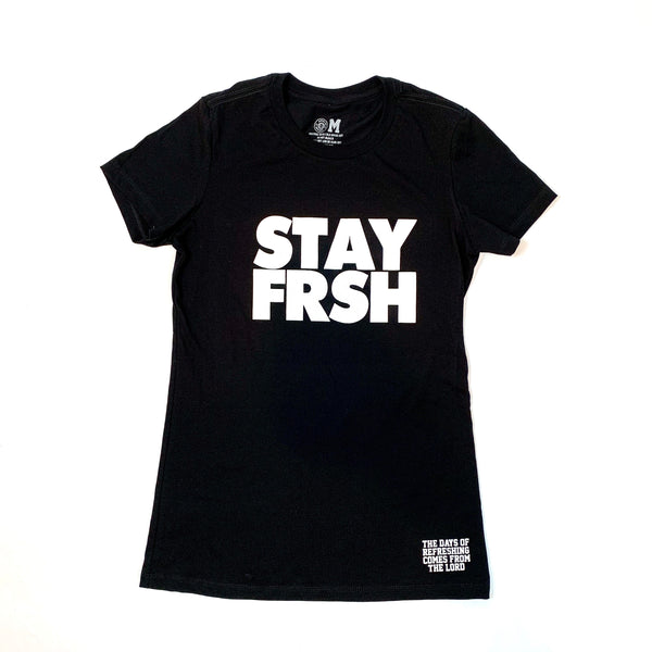 Ladies STAY FRSH Original Tee - Black