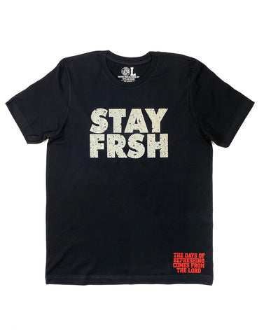 STAY FRSH Black Cement Tee