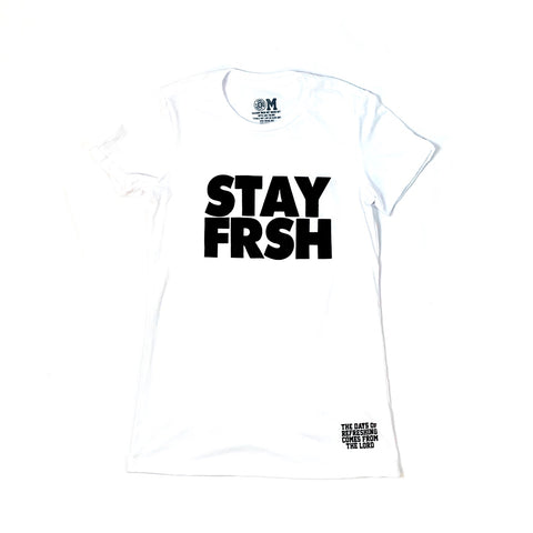 Ladies STAY FRSH Original Tee - White