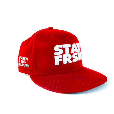 STAY FRSH New Era Red Crown