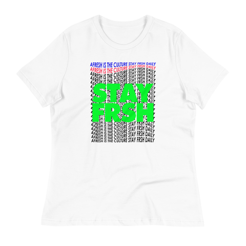 Ladies STAY FRSH Wavy Tee