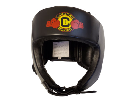 Head Guard made of high quality genuine leather inside and outside with extra padding