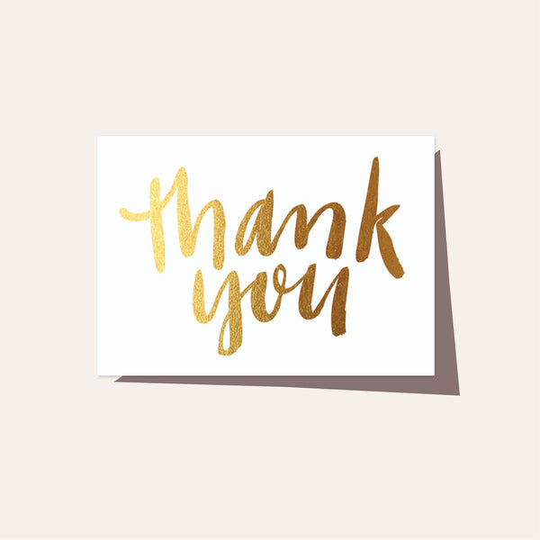 Thank You Gold - Boxed Set of 8 Cards