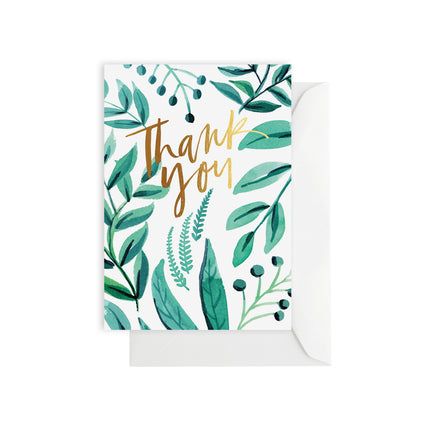 Greenery Thank You - Boxed set of 8 cards