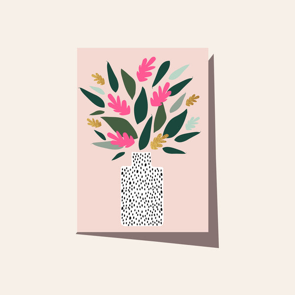 Vase Pink - Boxed Set of 8 Cards