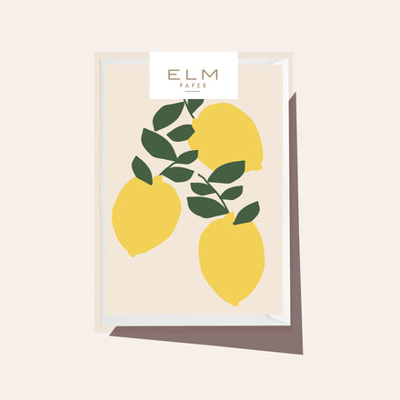 Lemons - Boxed Set of 8 Cards
