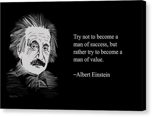 Albert Einstein Quote 4 - Canvas Print