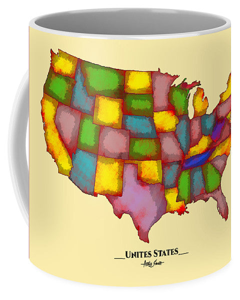 United States, Map, Artist Singh - Mug