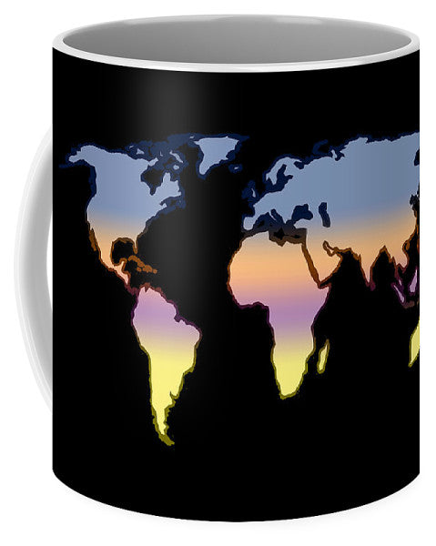 World Map, Artist Singh - Mug
