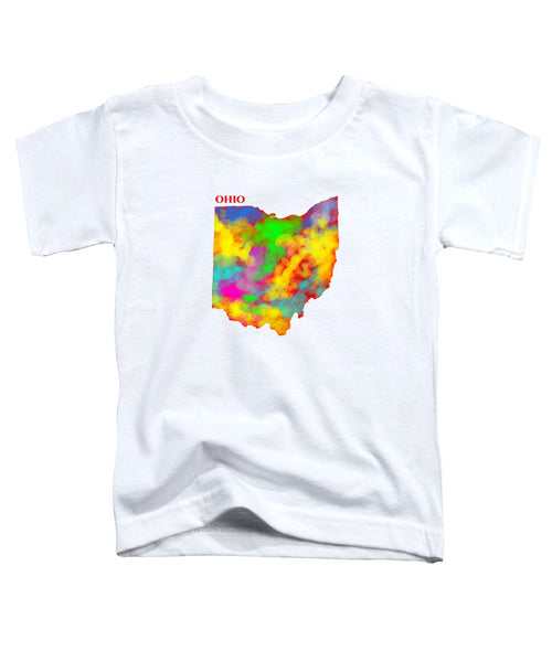 Ohio, Usa, Map, Artist Singh, - Toddler T-Shirt