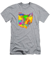 Ohio, Usa, Map, Artist Singh, - Men's T-Shirt (Athletic Fit)