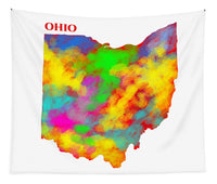 Ohio, Usa, Map, Artist Singh, - Tapestry