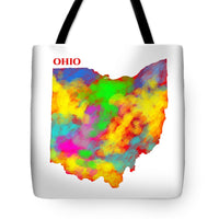 Ohio, Usa, Map, Artist Singh, - Tote Bag