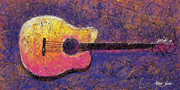 guitar in drip by Artist SinGh