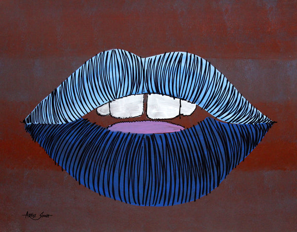 study of lips 2 by artist singh