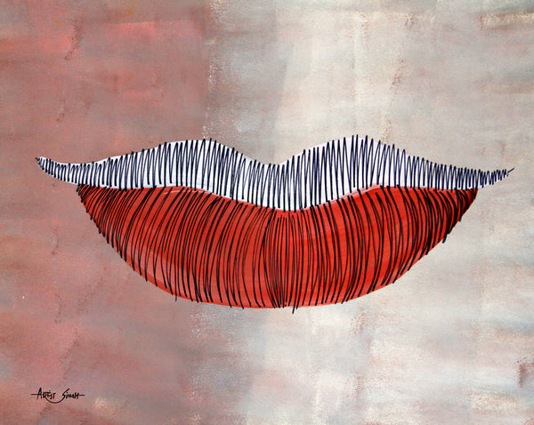 Study of lips 3 by artist singh