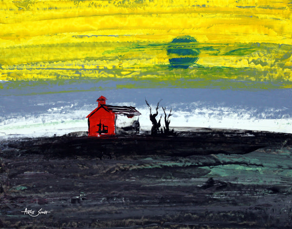 the red barn by artist singh