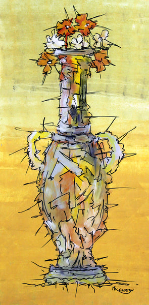 the yellow VAse by Artist SinGh