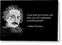 Alber Einstein 3 - Greeting Card