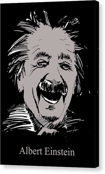 Albert Einstein In Grey - Canvas Print