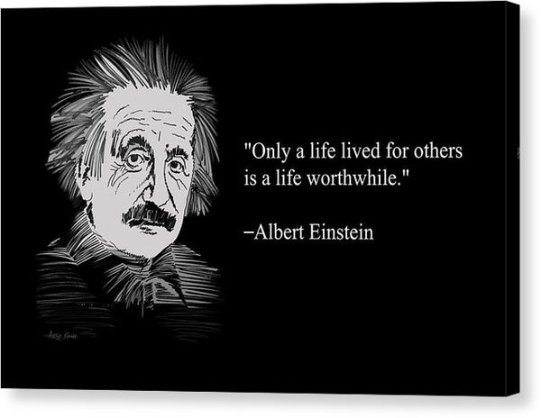Albert Einstein On Life 20 - Canvas Print
