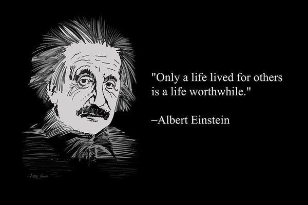 Albert Einstein On Life 20 - Art Print