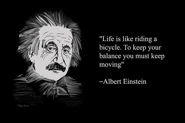 Albert Einstein On Life 26 - Art Print