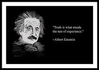 Albert Einstein On Truth  25 - Framed Print