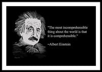 Albert Einstein On World 27 - Framed Print