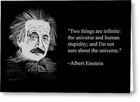 Albert Einstein Quote 15 - Greeting Card
